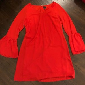 Worthington Red Dress Bell sleeves